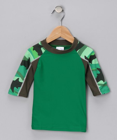 Green Shark Breaker Rashguard - Infant, Toddler & Boys