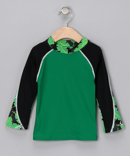 Green Pipeline Long-Sleeve Rashguard - Infant, Toddler & Boys