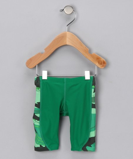 Green Shark Jammer Shorts - Infant, Toddler & Boys