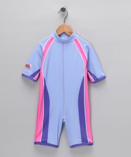 Purple Stripe One-Piece Rashguard - Infant