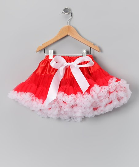 Red & White Pettiskirt - Infant, Toddler & Girls