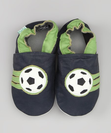 Black & Green Soccer Leather Booties
