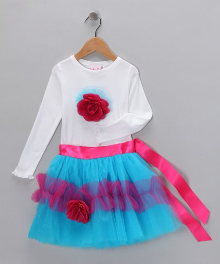 Tutu Moi Aqua Lulu Tee & Tutu - Infant, Toddler & Girls