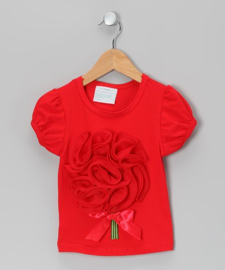 Red Flower Bouquet Tee - Infant, Toddler &amp; Girls