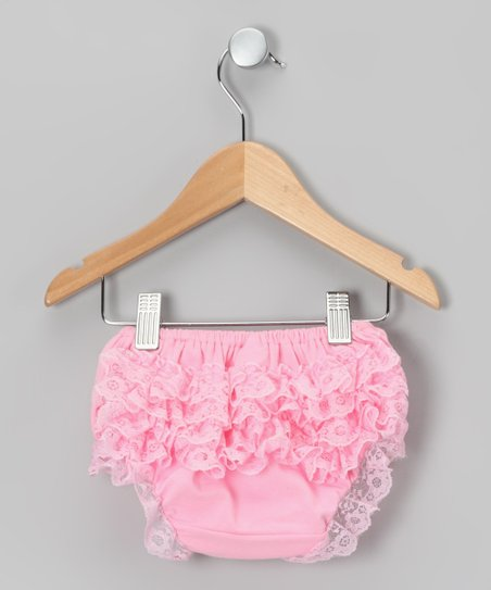Pink Lace Ruffle Diaper Cover - Infant & Toddler