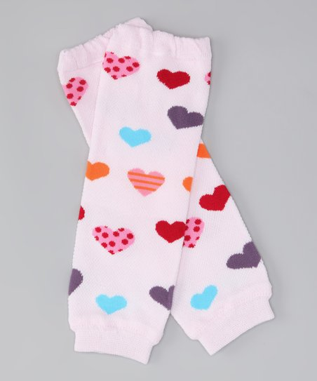 Pink Sweet Heart Leg Warmers