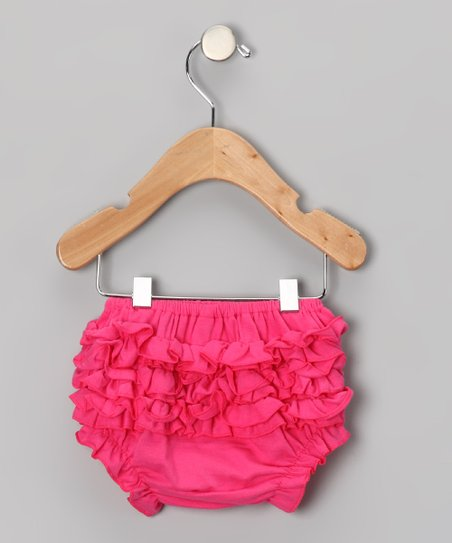 Hot Pink Ruffle Diaper Cover - Infant & Toddler