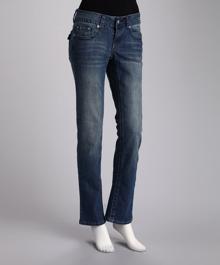 Twelve R Medium Blue Straight-Leg Jeans