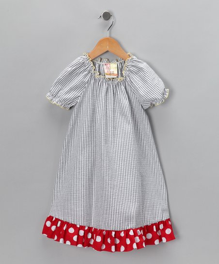 Blue Stripe Dress - Toddler & Girls