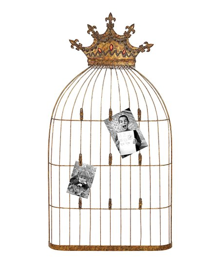 Crown Birdcage Photo Holder