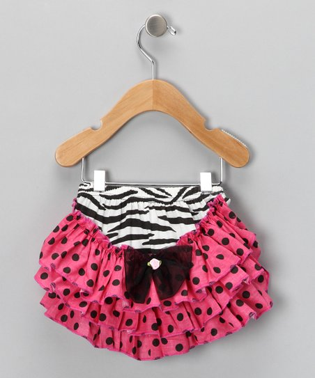 Zebra Polka Dot Ruffle Diaper Cover - Infant &amp; Toddler
