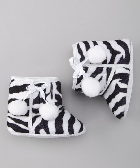 Black & White Zebra Booties