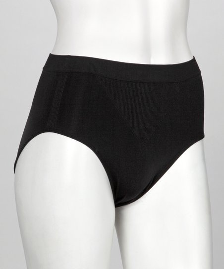 Black Seamless Shaper French-Cut Briefs