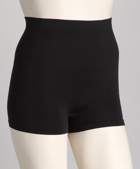 Black Tummy Control Shaper High-Waisted Boyshorts