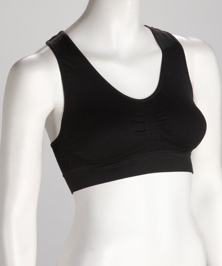 Black O Baby! Racerback Sports Bra