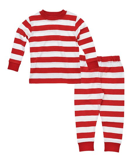 Under the Nile Red Stripe Organic Top &amp; Pants - Infant &amp; Toddler