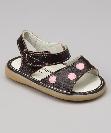 Uniquely Squeaky Brown Grace Squeaker Sandal