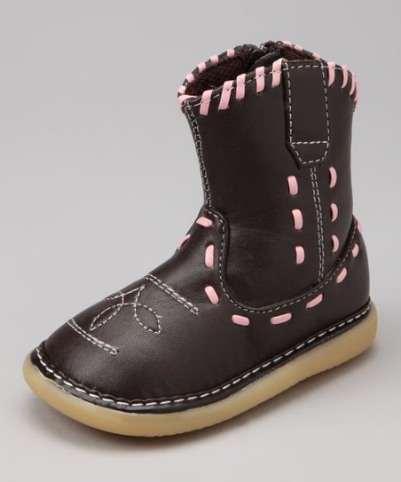 Uniquely Squeaky Brown Lyla Squeaker Boot