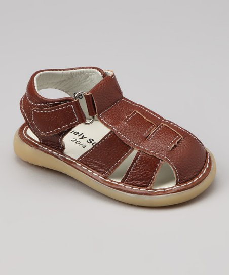 Uniquely Squeaky Brown Roddy Squeaker Sandal