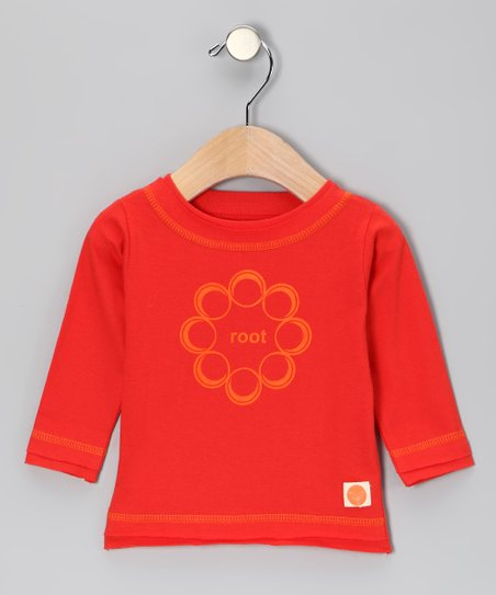 Urban Munchkin Red 'Root' Organic Long-Sleeve Tee - Infant