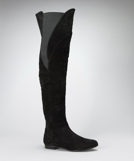 Black Suede Theonie Boot
