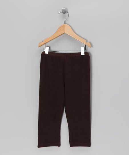 Coffee Capri Leggings - Toddler