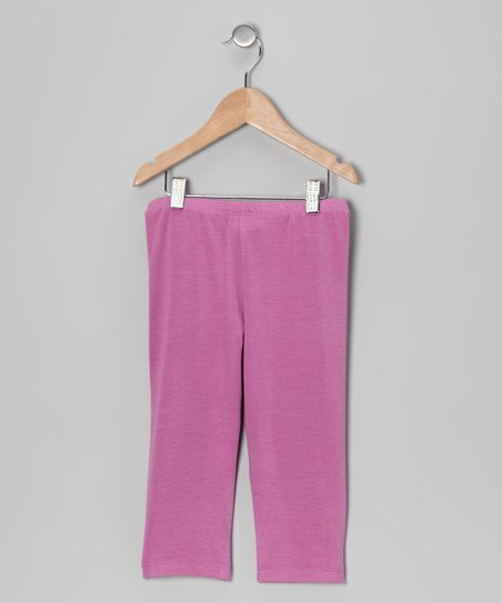Lilac Capri Leggings - Toddler & Girls