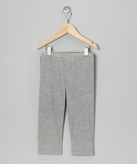 Light Gray Leggings - Toddler & Girls