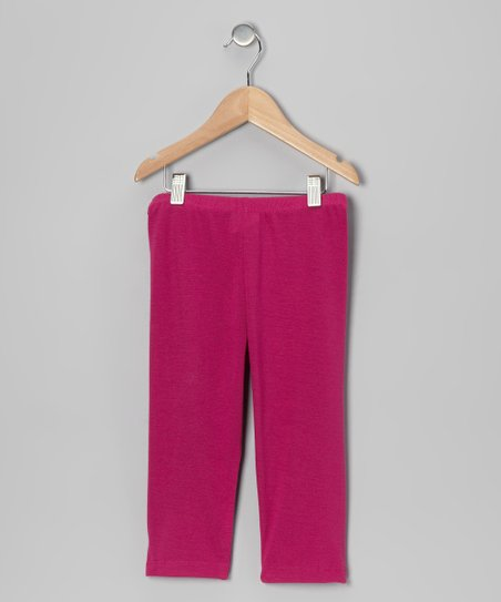 Magenta Capri Leggings - Toddler & Girls
