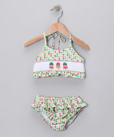 Pink & Green Ice Cream Bikini - Infant