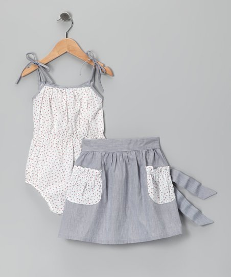 White Cherry Bodysuit & Skirt - Infant, Toddler & Girls