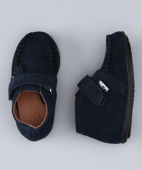 Navy Suede Mike Boot