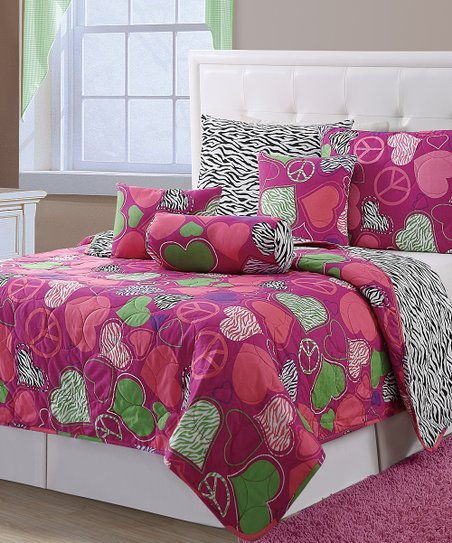 Pink Ashley Quilt Set