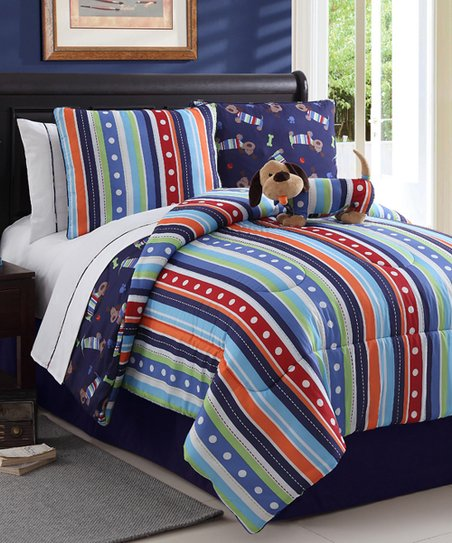 Leo Dog Reversible Comforter Set