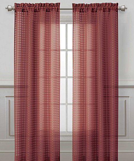 Red Drake Curtain Panel