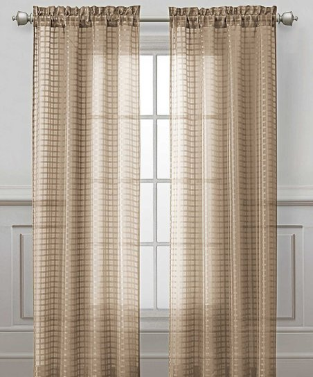 Taupe Drake Curtain Panel