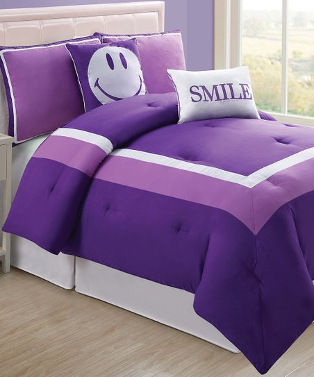 Purple Hotel Comforter Set
