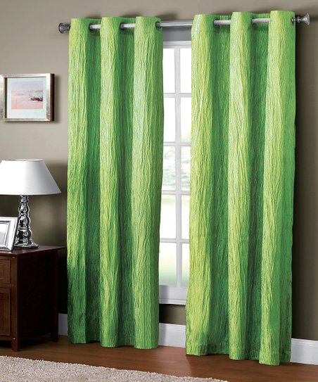 Mint Jericho Crushed Grommet Curtain Panel