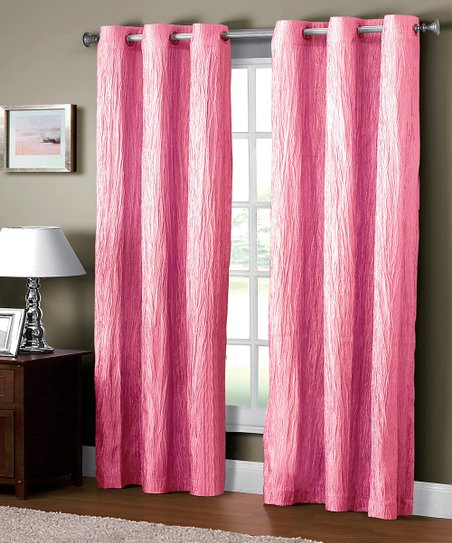 Pink Jericho Crushed Curtain Panel