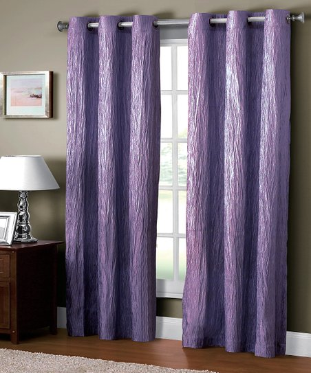 Purple Jericho Crushed Grommet Curtain Panel