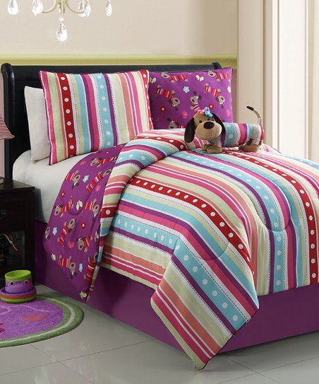 Lily Poodle Reversible Comforter Set