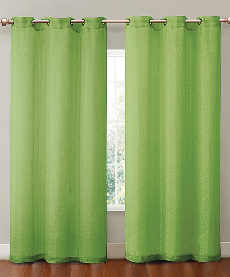Lime Sparkle Curtain Panel