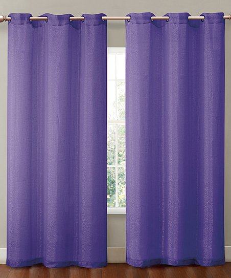 Purple Sparkle Curtain Panel