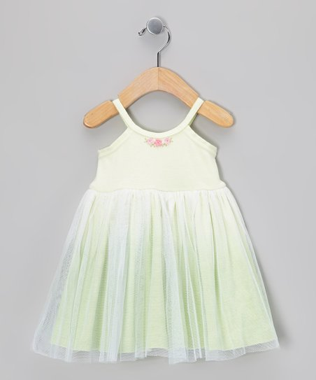 Green Flower Tulle Dress - Infant & Toddler