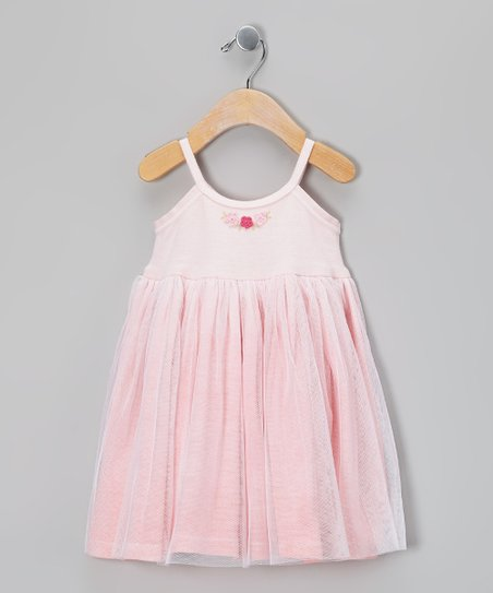 Pink Flower Tulle Dress - Infant & Toddler
