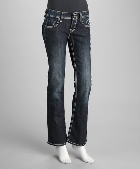 Vigoss Medium Blue Faded Bootcut Jeans