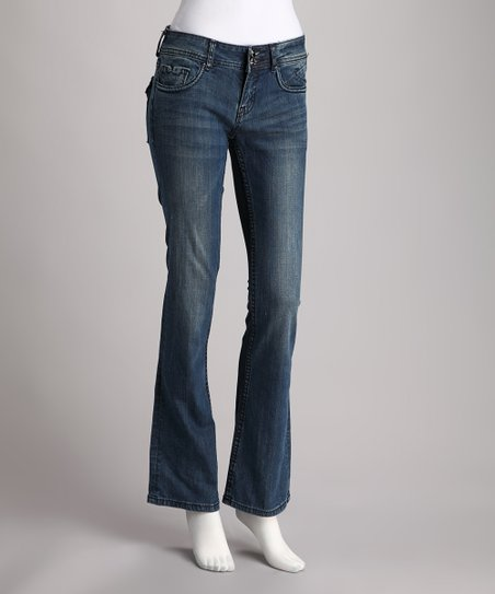 Vigoss Blue Denim Flap Pocket Bootcut Jeans