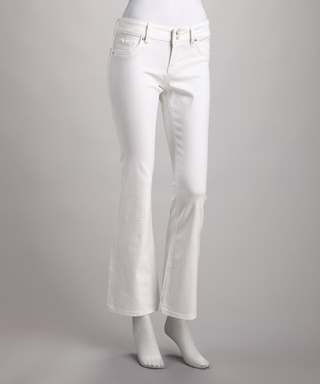 Vigoss White Denim Flare Jeans