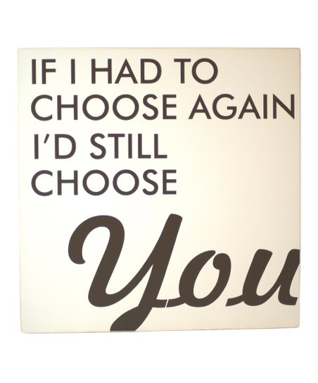 Cream &amp; Brown &#039;Choose Again&#039; Wall Art