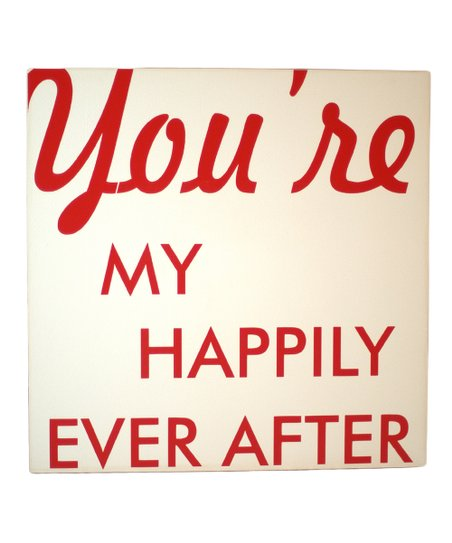 Cream & Red 'Happily Ever After' Wall Art